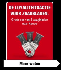 De loyaliteitsactie voor zaagbladen.