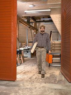 In der Schaffhauser Säge baut Frankenberger individuelle Möbel