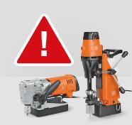 Important safety notice for KBC 35 / JMC USA 90 /KBB 60 / JHM USA 5