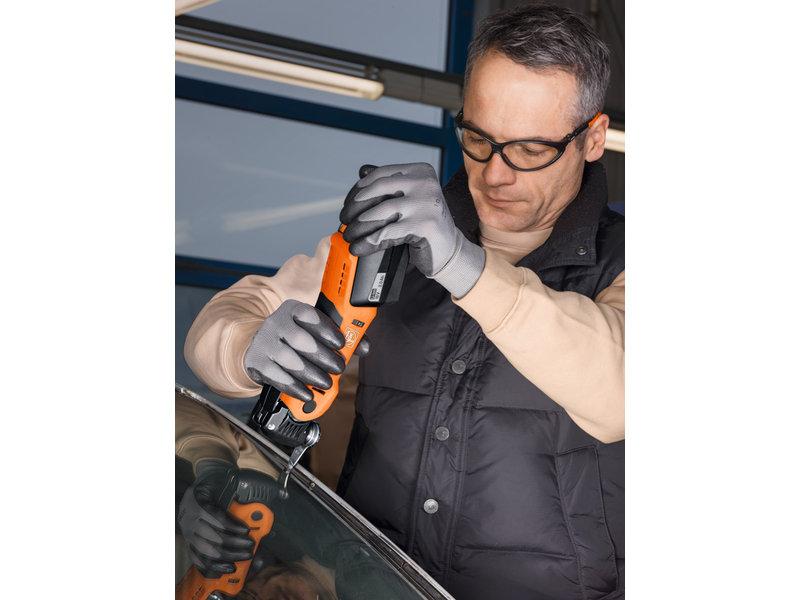 SuperCut Automotive - Set profesional FEIN AFSC 1.7 Q pentru geamuri auto cu acumulator