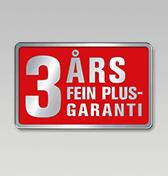 3 ?rs FEIN PLUS-garanti