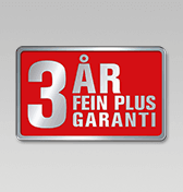 3 ?rs FEIN PLUS-garanti