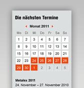 Datas de exposições