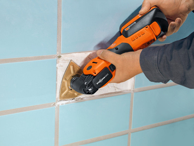 SuperCut Construction - FEIN professional set for tile restoration/bathroom renovation