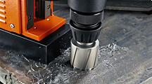 Magnetic base drilling