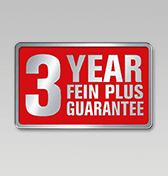 3 year FEIN PLUS guarantee