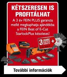 A FEIN MultiMaster megvásárlásából kétszeresen is profitálhat