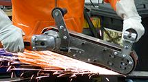 GRIT GHB hand-held belt grinder