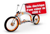 Achetez une perceuse et tentez de gagner un vélo électrique