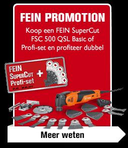Koop een FEIN SuperCut FSC 500 QSL Basic of Profi-set en profiteer dubbel