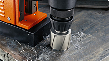 Magnetic base drilling