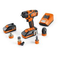Batteri-bormaskin + skrutrekker - Proffsett ABS 18 QC til gjengeboring