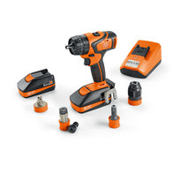 Cordless-screwdrivers - Professional set for ASB 18 QC tapping