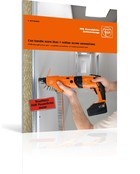 FEIN drywall screw gun – available as battery- or mains-powered tool