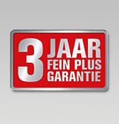 3 jaar FEIN PLUS-garantie