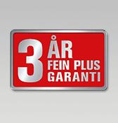 3 års FEIN PLUS-garanti