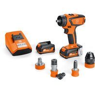 Cordless drill/driver - Professional set for ASCM 12 QC tapping