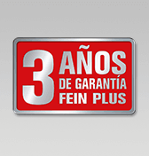 3 años de garantía FEIN PLUS