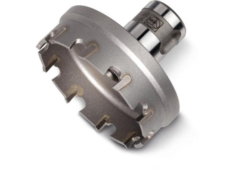 Hardmetalen gatzaag met QuickIN PLUS-houder