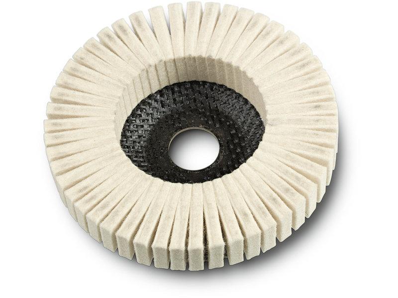 Yelpaze biçimli keçe disk