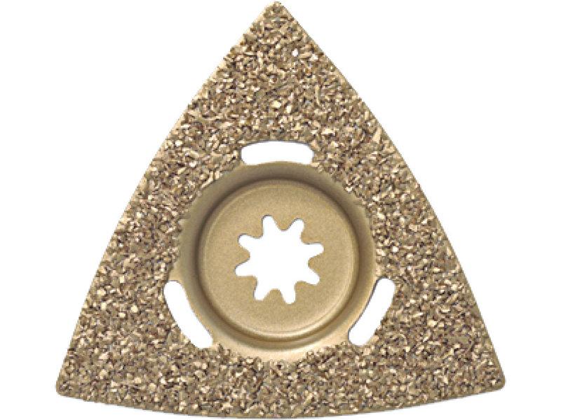 Sert metal raspa, üçgen kalıplı