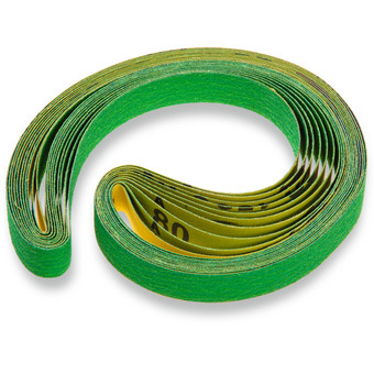 Ceramic sanding belts