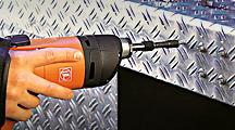 Skruemaskiner til selvborende skruer