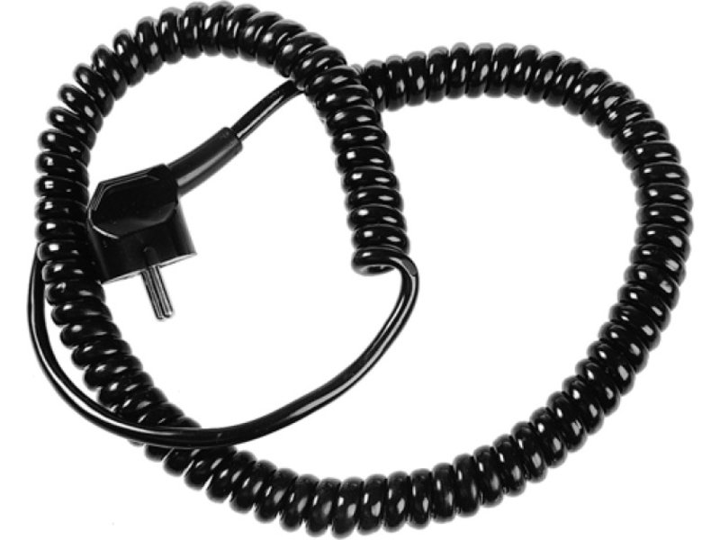 Špirálový prípojný elektrický kábel