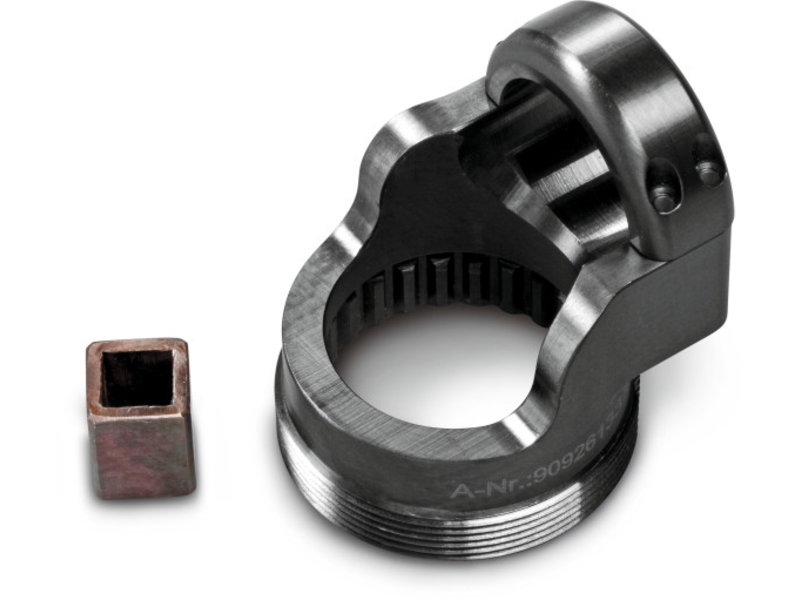 Clamping adapter for angled head