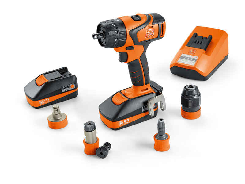 Cordless drill/driver - Professional set for ASB 18 QC tapping