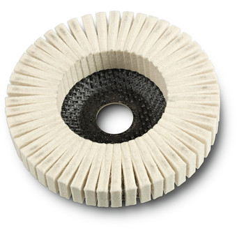 Felt serrated disc