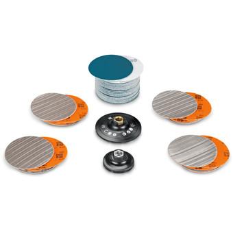 Set per acciaio inox preparazione lucidatura superfici / tubi / profili