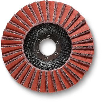 Serrated sanding disc