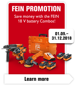 Save money with the FEIN 18 V battery Combos!