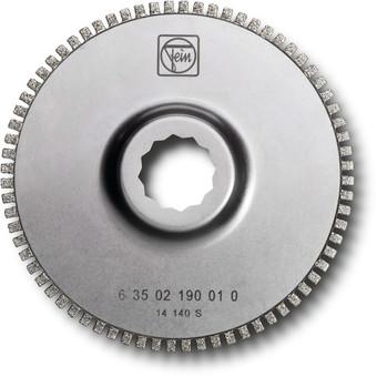 Diamond segment saw blade with open teeth