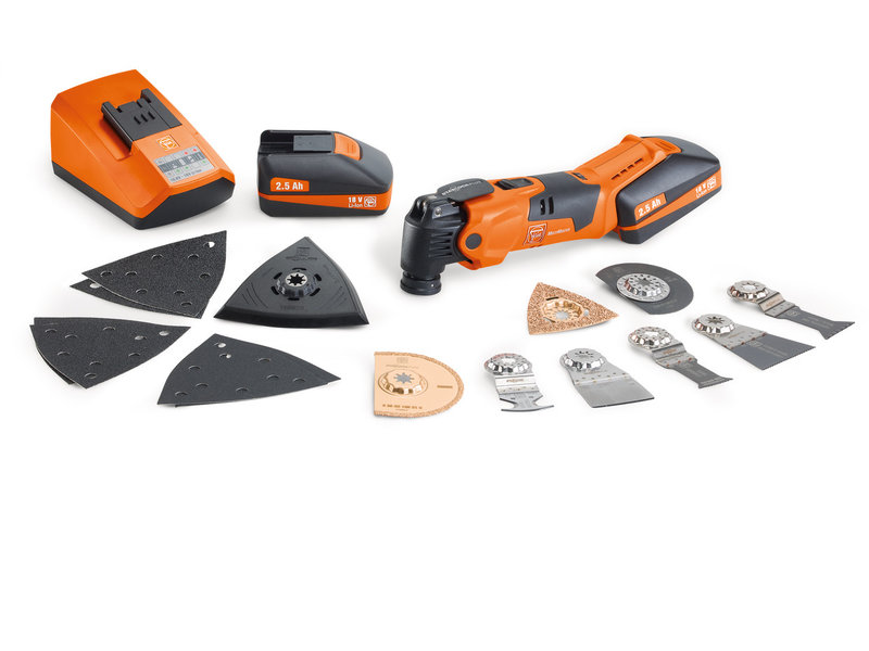 MultiMaster - Set promozionale FEIN MultiMaster a batteria AFMM 18 QSL XL