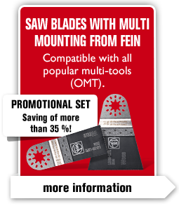 Saw blades with Multi Mounting from FEIN