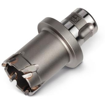 Carbide core drill bit with QuickIN PLUS holder