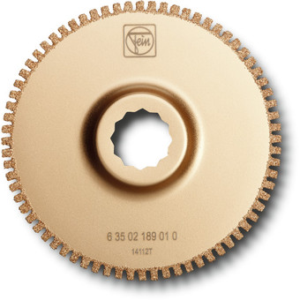Hardmetallsagblad med åpen fortanning