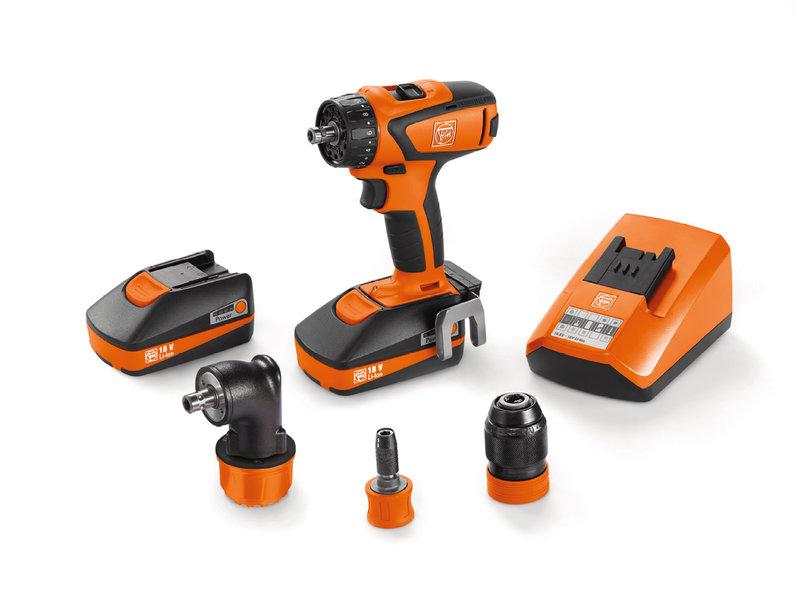 Batteri-bormaskin + skrutrekker - Proffsett ASCM 18 QSW