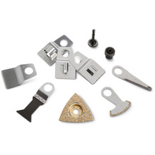 Accessory set for heating/sanitary installation