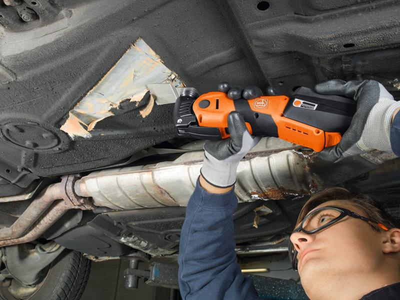 SuperCut Automotive - AFSC 1.7 Q – profesjonalny akumulatorowy zestaw FEIN do szyb samochodowych