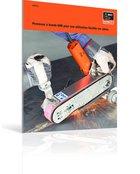Ponceuse à bande GHB pour une utilisation flexible sur place.