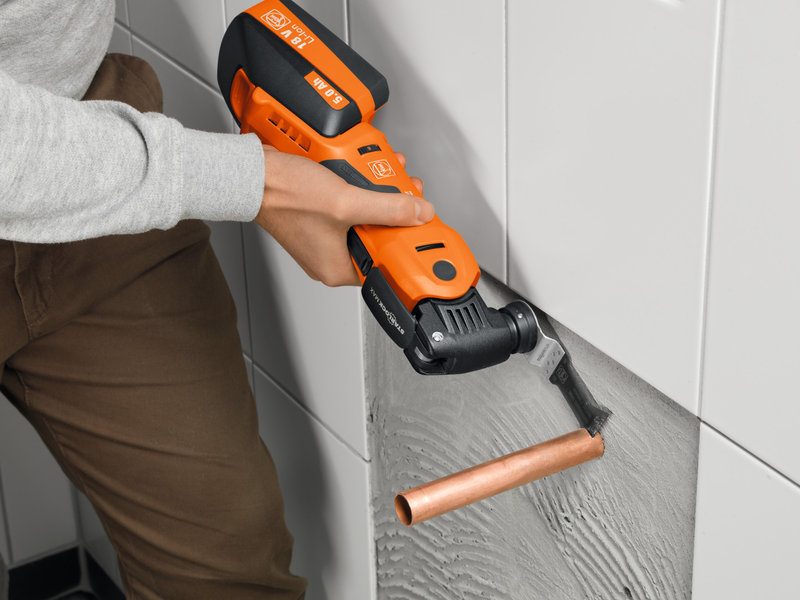 SuperCut Construction - Profesionálna súprava FEIN pre inštaláciu vykurovania/sanity