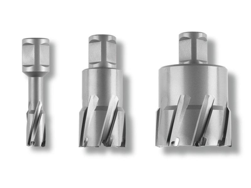 Coronas perforadoras Ultra 50 de metal duro con alojamiento Weldon