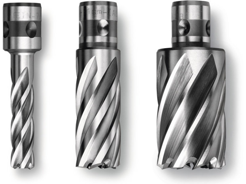 Coronas perforadoras Prima de acero de corte ultrarrápido (HSS) con alojamiento QuickIN