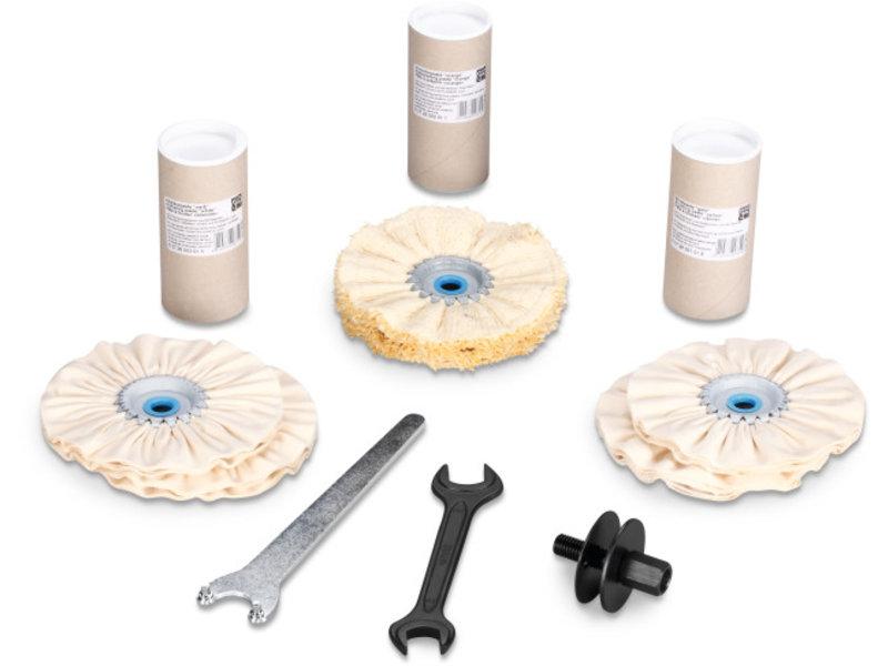 Set inox lucidatura superfici/tubi/profilati
