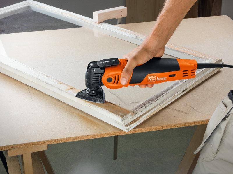 SuperCut Construction - Set profesional FEIN para trabajos en interiores con madera