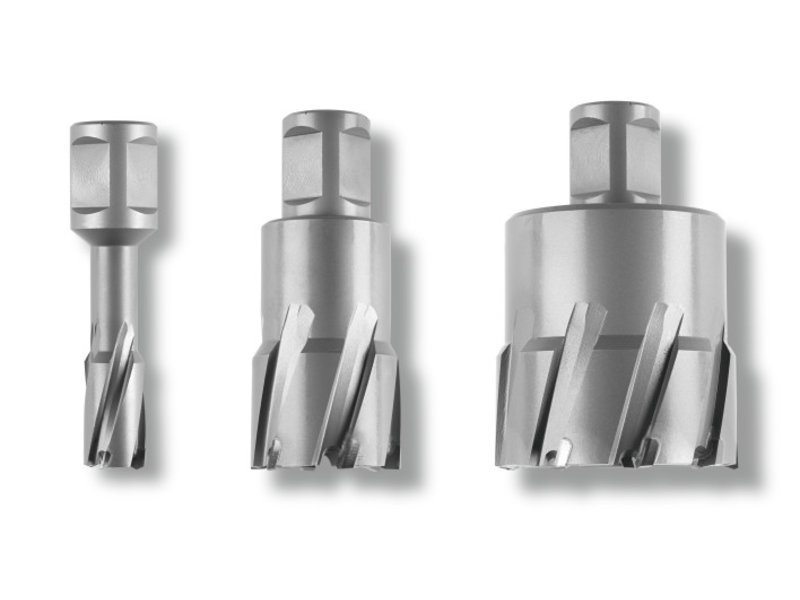 Coronas perforadoras Ultra 75 de metal duro con alojamiento Weldon