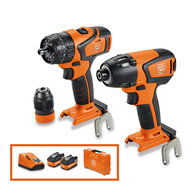 Cordless drill/driver - FEIN Brushless Twin Pack 18 V combi drill + impact driver